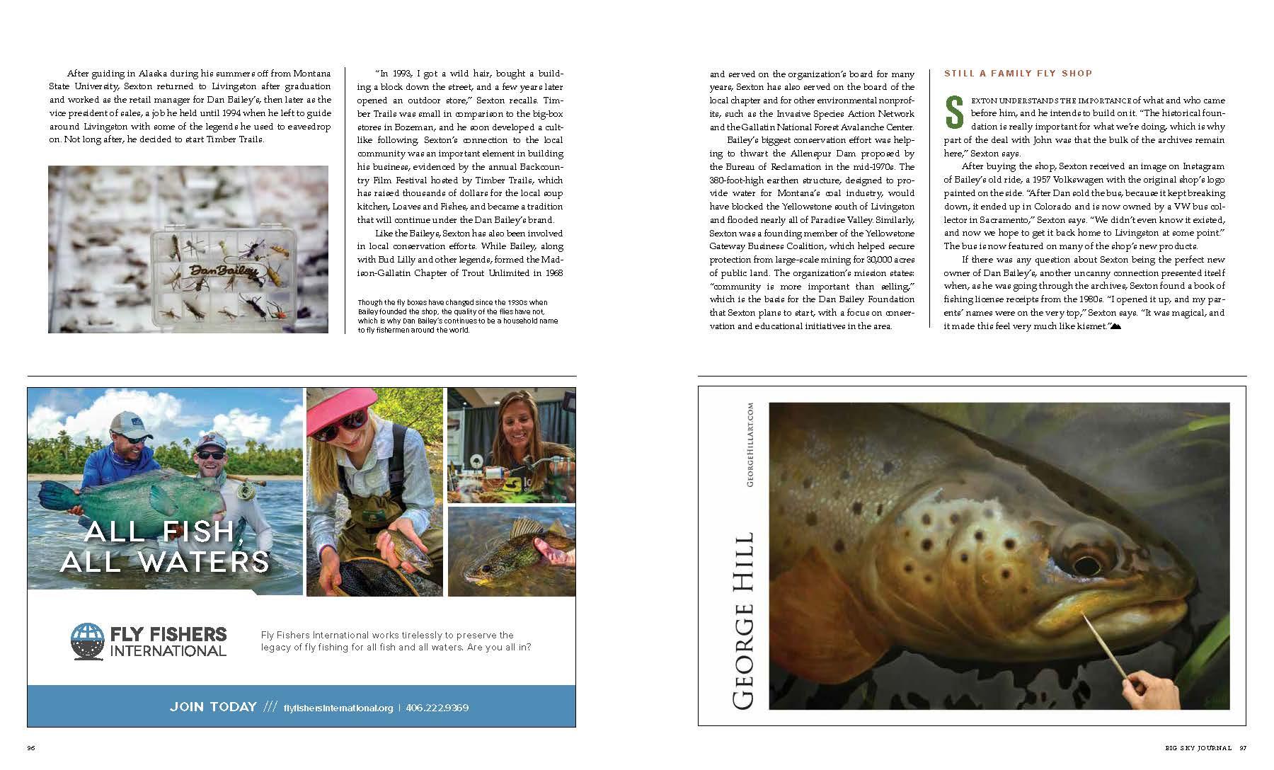 fly fishing, dan Bailey's, Big Sky Journal, Livingston, Montana